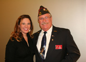 Brittany with her father, VFW Commander Ron Davies