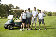 Foursome with CABA Past Chair Brittany Davies and Board Member Brian Moss