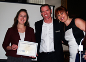 Barry Stidham and MacKenzie Kelly with NBAA Leadership Conference Scholarship winner Nicole McLeod